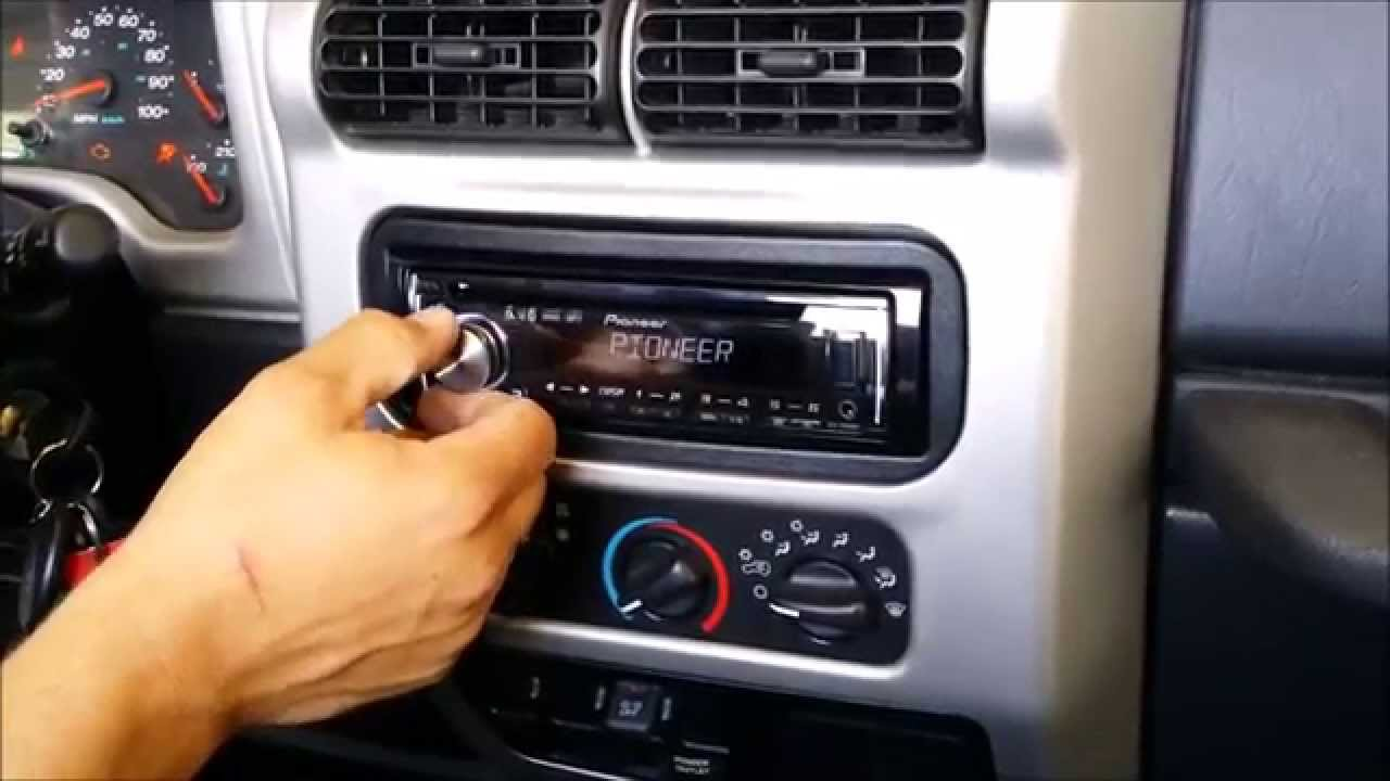 How to: 2004 Jeep Wrangler TJ Stereo Install  YouTube