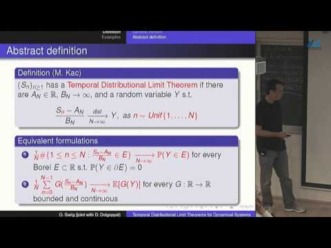 Omri Sarig- Temporal distributional limit theorems for dynamical systems