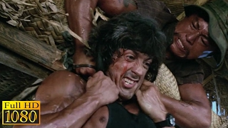 Rambo First Blood 2 (1985) - Boat Fight Scene (1080p) FULL HD