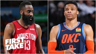 Harden is going to have to give up the ball to Westbrook - Max Kellerman | First Take