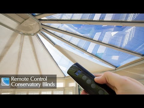 pure™ Remote Control Conservatory Blinds