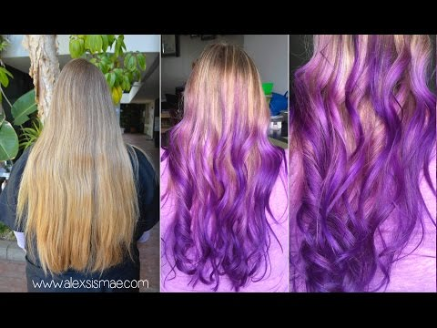 Dirty Blonde to Reverse Purple Ombre | with OLAPLEX