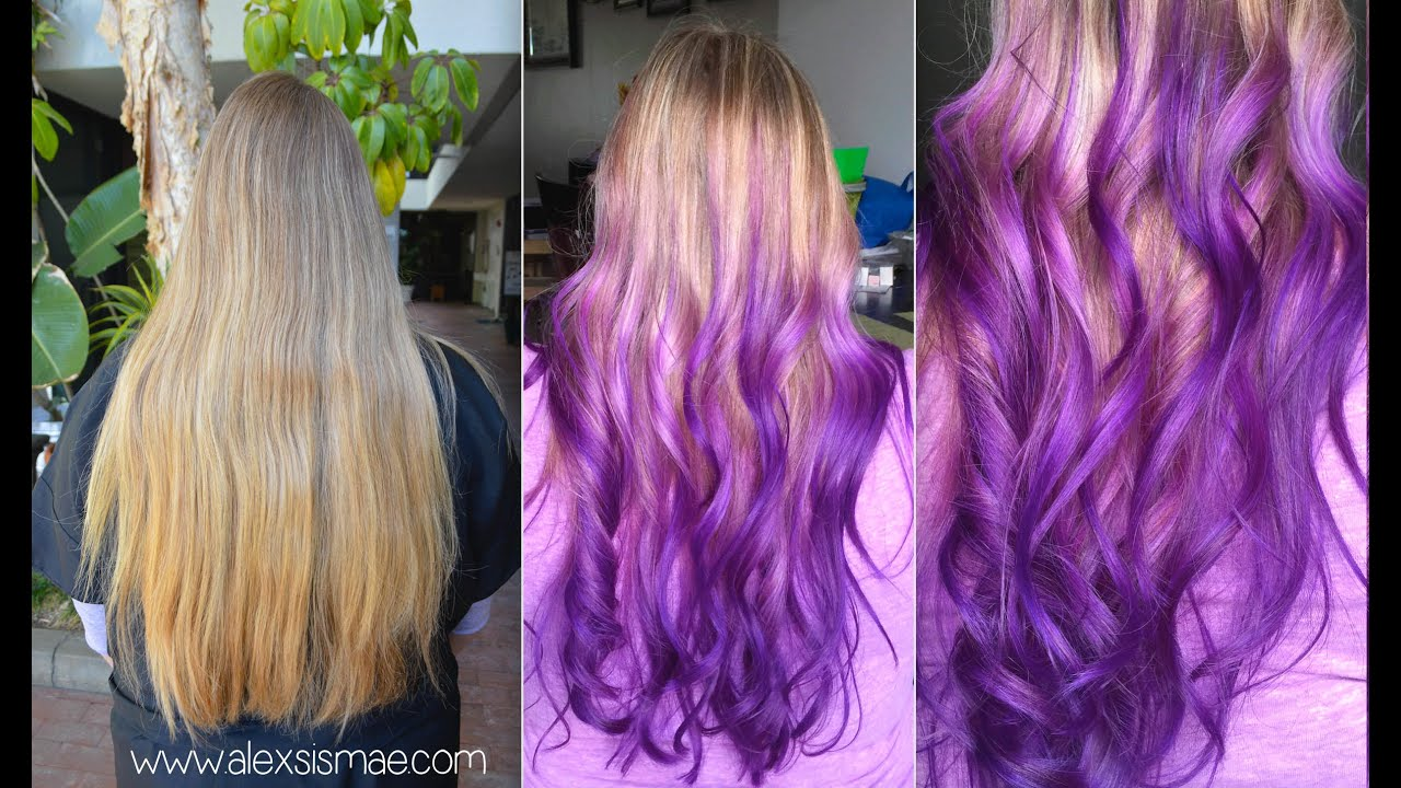 Dirty Blonde To Reverse Purple Ombre With Olaplex Youtube