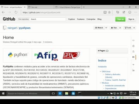 PyAfipWS Win10 instalación desde código fuente python factura electrónica