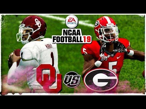 NCAA Football 19 🏈NCAA FOOTBALL 14 20182019 ROSTERS!!! Subscriber Request  OU vs Georgia!!!