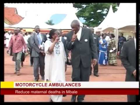 Motorbike ambulances in Mbale reduce Maternal deaths