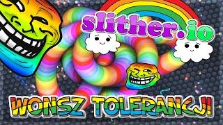 🌈 🐍 TĘCZOWY WONSZ TOLERANCJI ?!?! ( ͡°ᗜ ͡°) | Slither.io