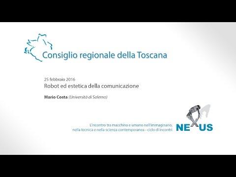 Mario Costa. Robot ed estetica della comunicazione.