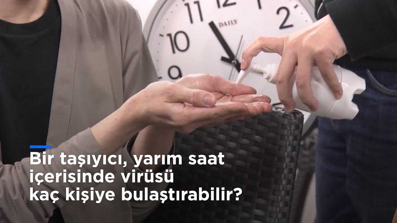Bir taşıyıcı, virüsü yarım saat içerisinde kaç kişiye bulaştırabilir?