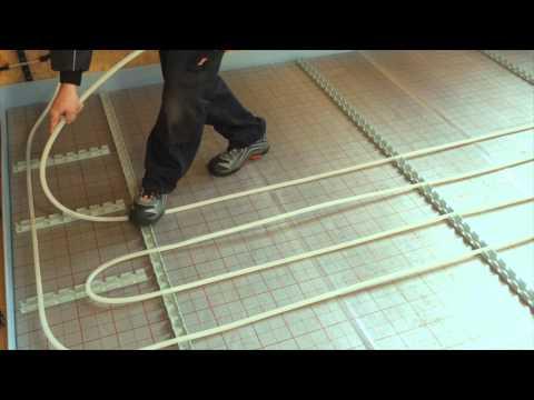 Fußbodenheizung - Radiant heating - Verlegung einer Fußbodenheizung / Installation of underfloor