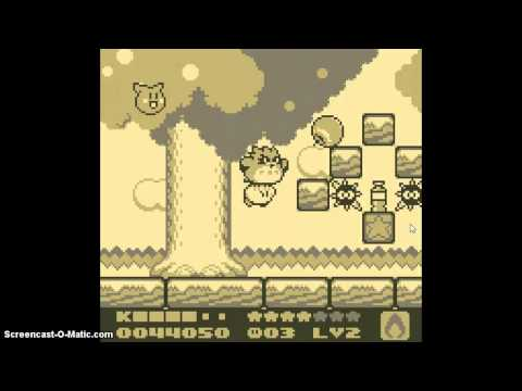 NOT INTO THE PIT! IT BURNS!!! - KIRBY'S DREAM LAND 2