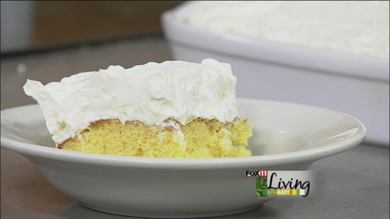 Orange Pineapple Cream Cake-Fox 11 Living With Amy - YouTube
