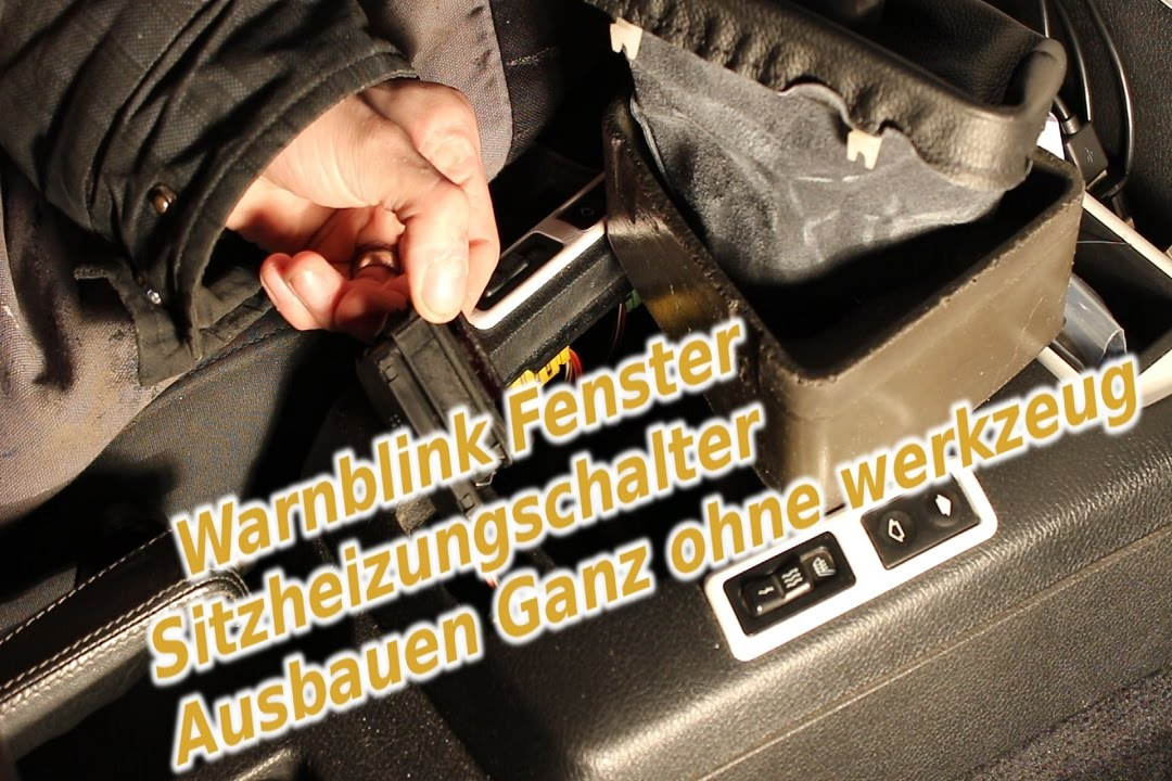 bmw e36 warnblink und fenster und sitzheizung ausbauen ganz ohne werkzeug youtube. Black Bedroom Furniture Sets. Home Design Ideas