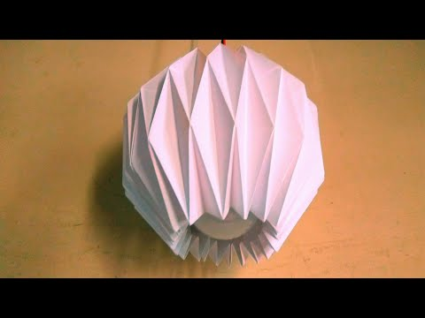 Making it easy Diy Paper Lamp shade  at home