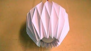 Making it easy Diy Paper Lamp shade  at home