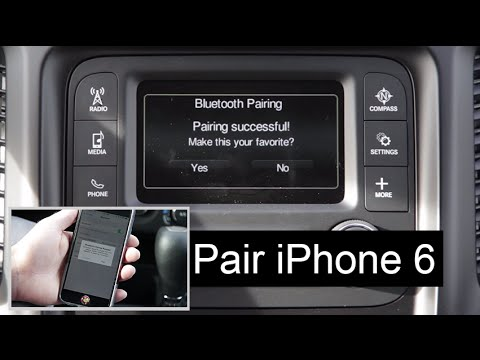 Jeep Phone Pair Bluetooth Setup Uconnect 5 0 System W Iphone 6 Smart Phone Youtube