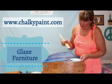 How to Glaze a Piece of Furniture using Chalky Paints & Finishes Glaze