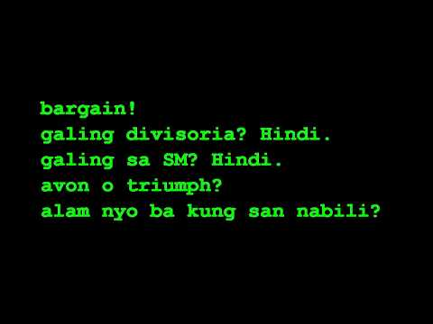 Panty ni Shoni (lyrics)
