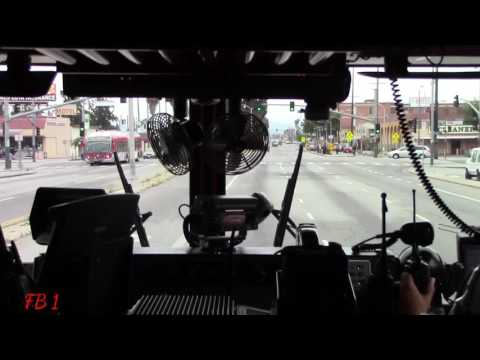 (Ride Along) LAFD Engine 66 Responding From Station 57