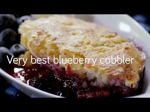Desset Recipe: Very Best Blueberry Cobbler - YouTube