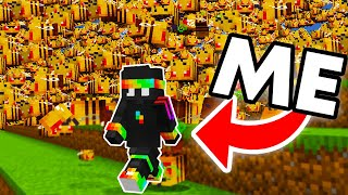 Breeding an Army of 1000 Bees to Kill One Minecraft Player