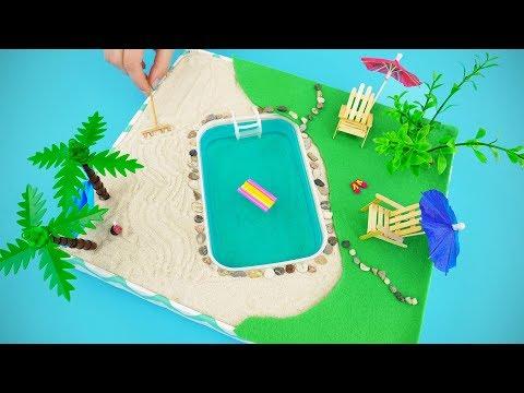 DIY Mini Pool Zen Garden For LOL Doll, Littlest Pet Shop