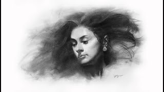 ZIMOU TAN | ART| How to draw a young lady portrait demo.