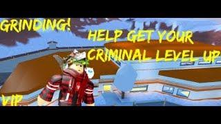 Leveling up in the Roblox Jailbreak vip server(Criminal)Grinding for more money LIVE