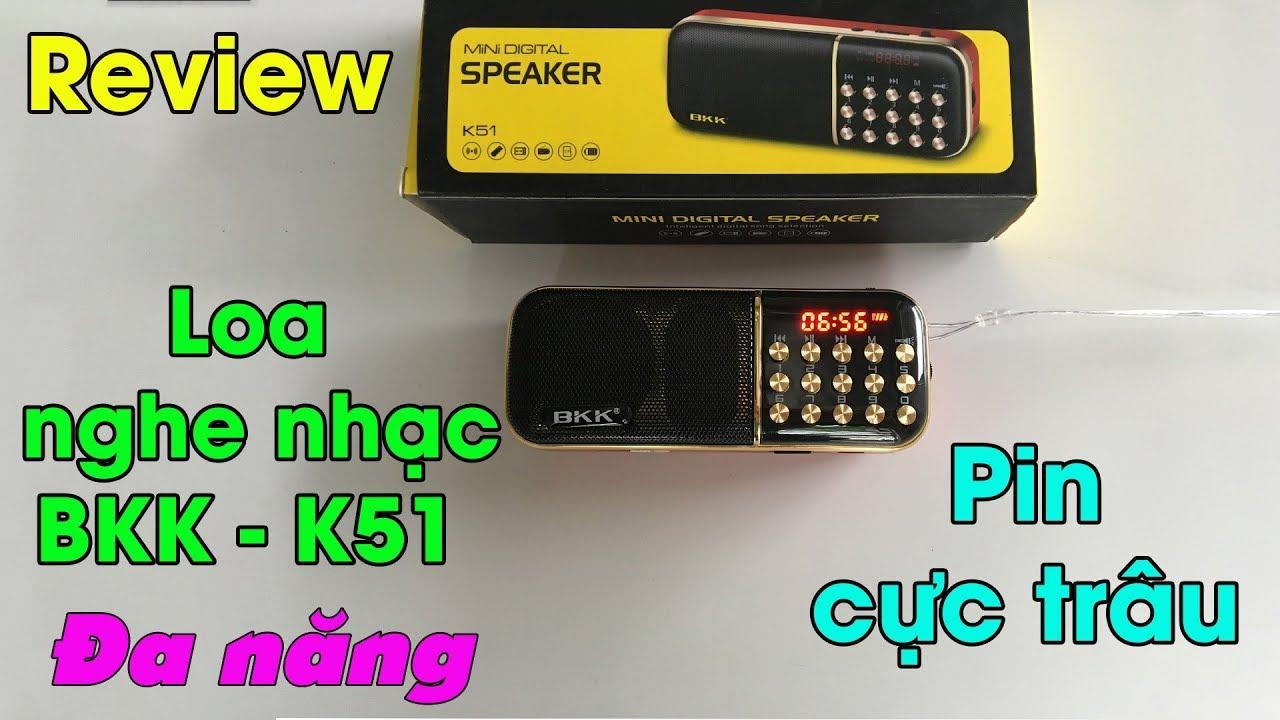 Máy Nghe Nhạc Đa Năng BKK K51 | Đài FM đa năng có đèn pin