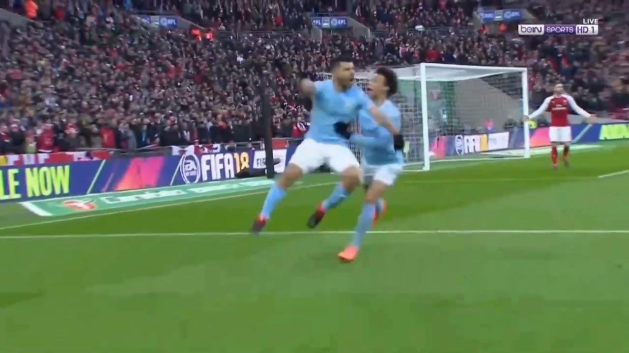 Manchester City vs Arsenal 1 0 Sergio Aguero GOAL - YouTube