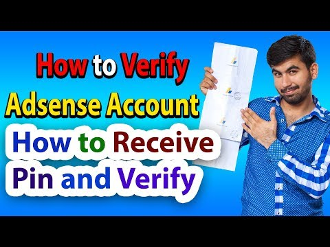 How To Receive Pin And Verify Adsense Account | 2018