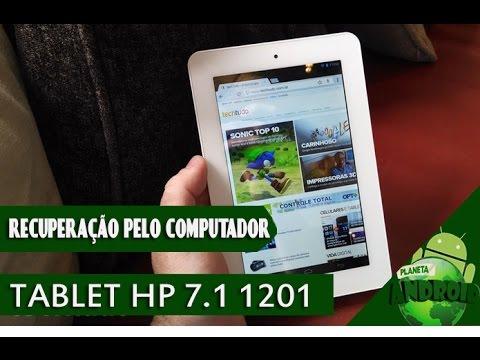 RECUPERAÇÃO PELO PC TABLET HP 7.1 1201 - REINICIANDO DE FABRICA - RESOLVIDO