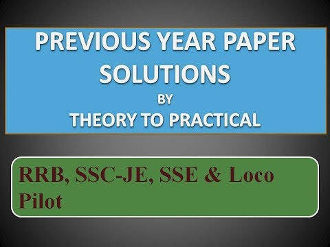 RRB SSE Solved Paper Senior Section Engineer