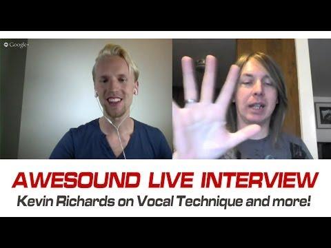 Awesound Interview | Vocal Coach Kevin Richards & Peter Wickström | Google+ Hangouts