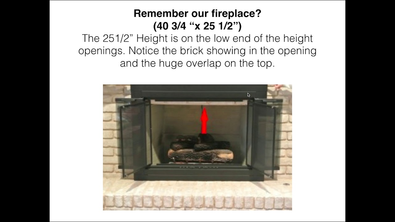 home depot 2017 fireplace door video 2 youtube