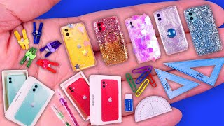 15 DIY Miniature School Supplies Ideas, Iphone11 and Iphone case Hacks and Crafts~~