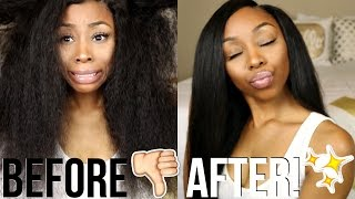 Start to Finish: Curly to Straight Hair Tutorial ft. Unice Indian Curly Hair!