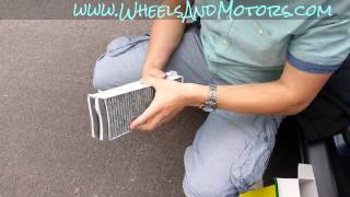 How to change pollen filter (cabin air filter, dust filter) for Audi A6 (C6 4F)