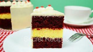 Торт Красный Бархат с чизкейком. Как сделать мини торт Красный Бархат | Red Velvet Cake