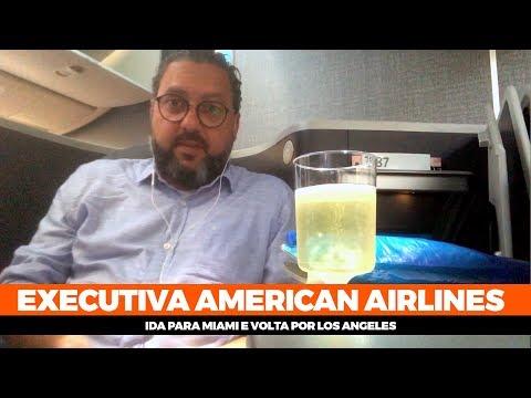 Como é voar na executiva da American Airlines para os Estados Unidos