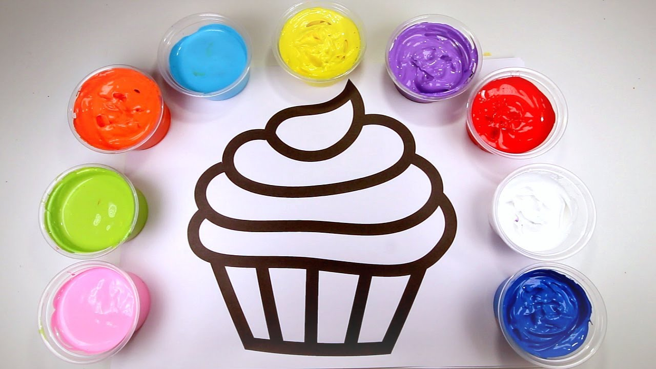 Colorful Cupcake Painting for Kids| Fun Easy Painting For ...