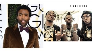 Donald Glover Shouts Out Migos During Golden Globe Acceptance Speech
