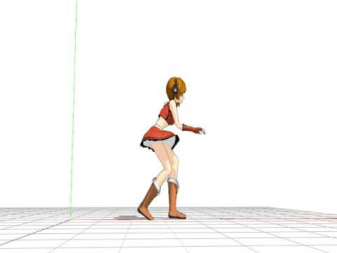 """MMD animation test """"The Wind-up and the Pitch"""""""