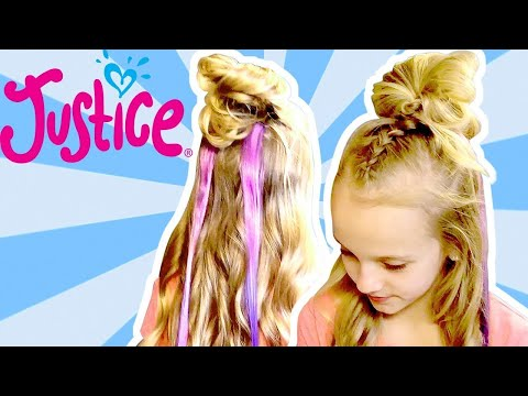 BRAIDED TOP KNOT HAIRSTYLE 💗 JUSTICE - GIRLS WITH HEART