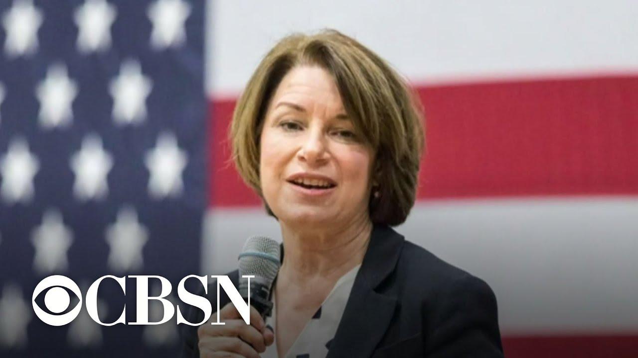Senator Amy Klobuchar reveals breast cancer diagnosis