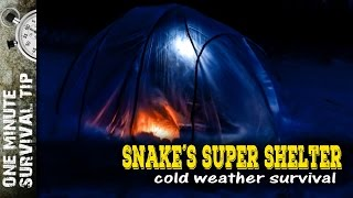 Snake´s Super Shelter - one minute survival tip