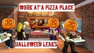 Roblox Work at a Pizza Place 🎃Halloween Leaks🎃