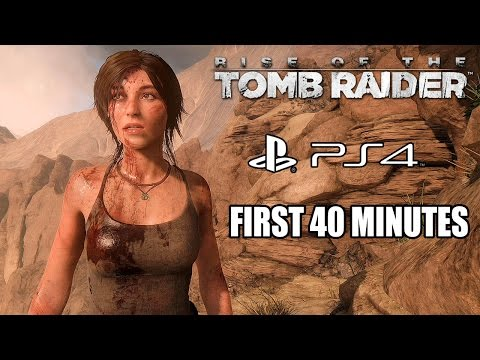 Rise of the Tomb Raider (PS4) - First 40 Minutes Gameplay @ 1440p HD ✔