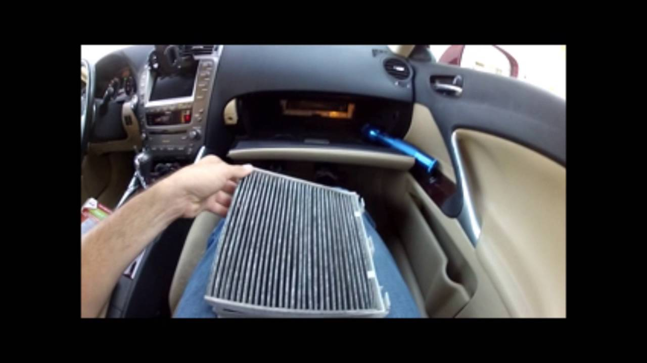 2006 lexus is350 interior cabin air filter replacement youtube. Black Bedroom Furniture Sets. Home Design Ideas
