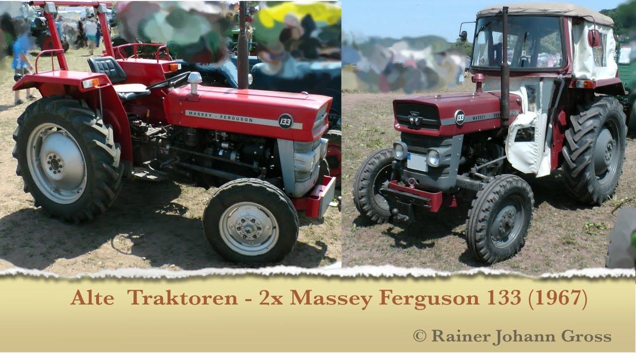 alte traktoren 2 x massey ferguson 133 youtube. Black Bedroom Furniture Sets. Home Design Ideas